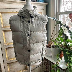 MARKER Beige Gray Down Filled Puffer Vest